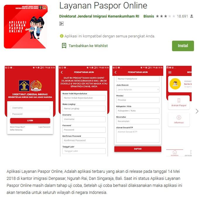 Aplikasi Pendaftaran Antrian Paspor Online Kantor Imigrasi Bengkalis